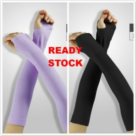 image of READY STOCK Cool UV Arm Sleeves Sun Protective Cover Hand Golf Bike Driving