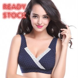 image of READY STOCK Lace Cotton Pregnant Maternity Nursing Sleeping Bra