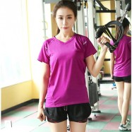 image of Sport Wear 2 in 1 (Included T-Shirt + Short Pant) Short Sleeve Dry Sport T-Shirt