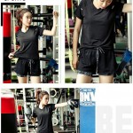 Sport Wear 2 in 1 (Included T-Shirt + Short Pant) Short Sleeve Dry Sport T-Shirt