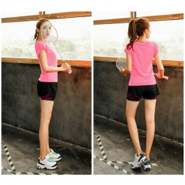 image of Sport Wear 2 in 1 (Included T-Shirt + Short Pant)Short Sleeve Dry Sport T-Shirt