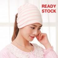 image of Topfine Stripe Beanies Hat Skullies Windproof Maternity Cap Pregnant Mother Caps