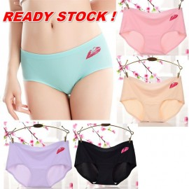 image of READY STOCK (5 Pcs) Nano Silver Ions Ice Silk Quick-Drying Antibacterial Panties