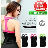 image of (READY STOCK) Women Lady Stretch Racer back Fitness Yoga Padded Yoga Gym Training Exercise Sports Bra Vest Tops