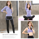 (Shirt Only)Women Fitness Gym T Shirt Running Sport Breathable Long Sleeve Tops