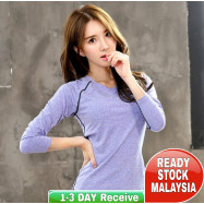image of Ready Stock (Shirt Only) Women Fitness Gym T Shirt Running Sport Breathable Long Sleeve Tops