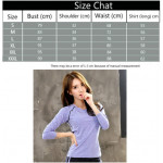 Ready Stock (Shirt Only) Women Fitness Gym T Shirt Running Sport Breathable Long Sleeve Tops