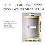 PURE- CLEAN USA Carbon block (White) Made in USA