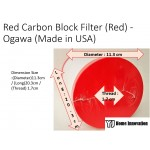 Red Carbon Block Filter (Red) - Ogawa (Made in USA)