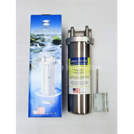 "image of 10"" Stainless-steel Heavy-duty water filter housing (Made in USA) sediment/2step"