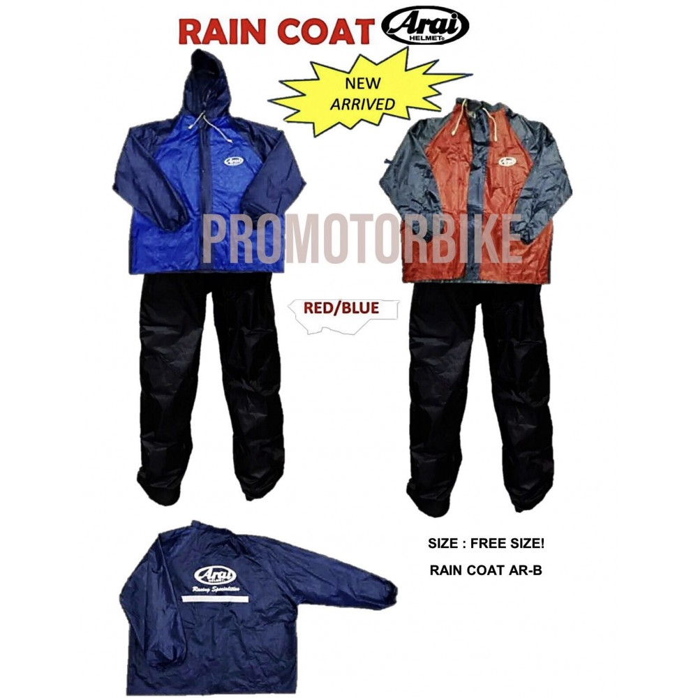 NEW ARRIVAL!! ARAI Raincoat Rainsuit Jacket Waterproof