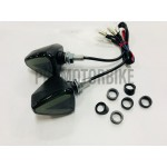 Mini Led Turn Signal Motorcycle Motorbike Dual Color Universal Y15ZR LC135