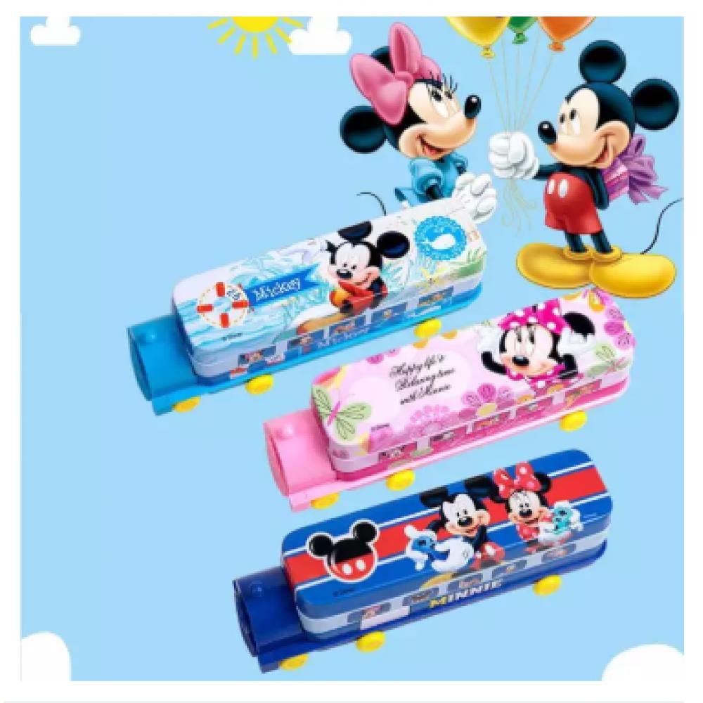Mickey Minnie Pencil Boxes Train Shape