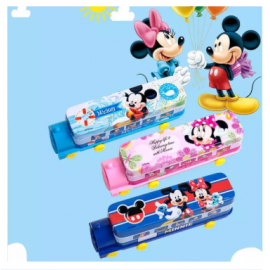 image of Mickey Minnie Pencil Boxes Train Shape