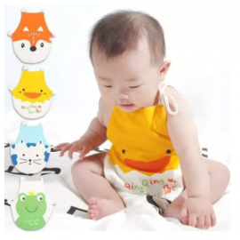 image of Cute Cartoon Baby Toddler Cotton Bibs / Aprons