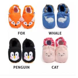 image of Baby Learn Walk Shoes - Cute Animal/Cartoon
