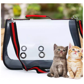 image of Foldable Transparent Pet Carrier Bags / Travel Pet Bags