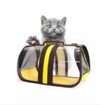 Foldable Transparent Pet Handbags / Travel Pet Carriers Purses/ Pet Handbags