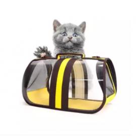 image of Foldable Transparent Pet Handbags / Travel Pet Carriers Purses/ Pet Handbags