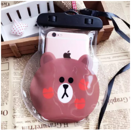 image of Cute Cartoon Waterproof Mobile Phone Pouch
