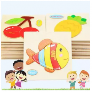image of Kid Learning Toy - Wood Puzzle