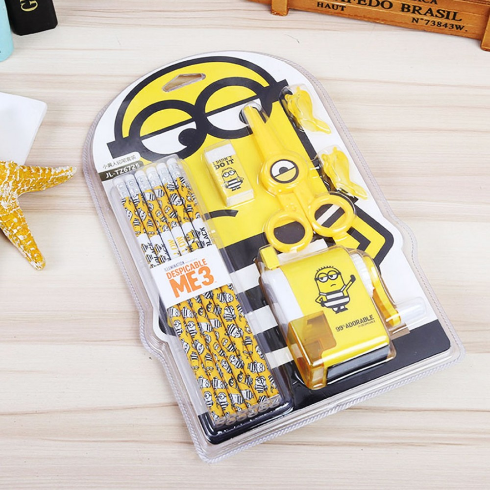 Official Despicable Me Minion High Quality Pencil Stationery Set