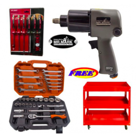 "image of MR MARK 1/2"" Twin Hammer Professional Dr.Air Impact Wrench"