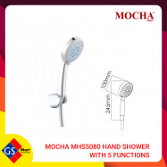 image of MOCHA MHS5080 ABS HAND SHOWER WITH 5 FUNCTIONS