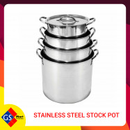 image of STAINLESS STEEL STOCK POT