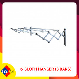 image of 6' CLOTH HANGER (3 BARS)