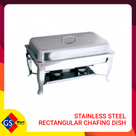 image of Stainless Steel Rectangular Chafing Dish