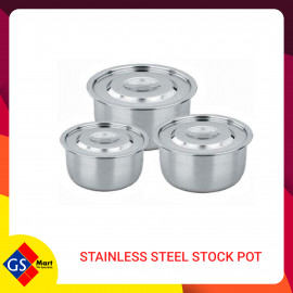 image of STAINLESS STEEL STOCK POT 3PCS