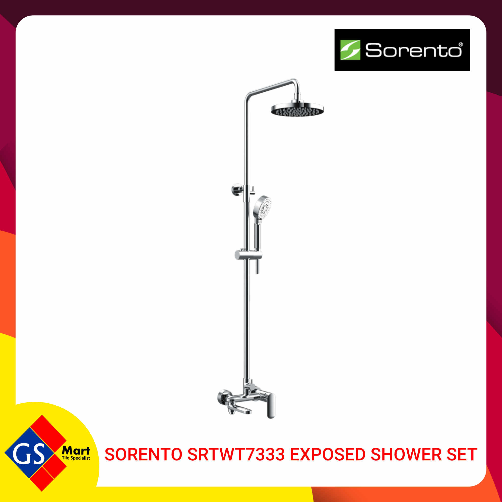 image of Sorento SRTWT7333 Exposed Shower Set