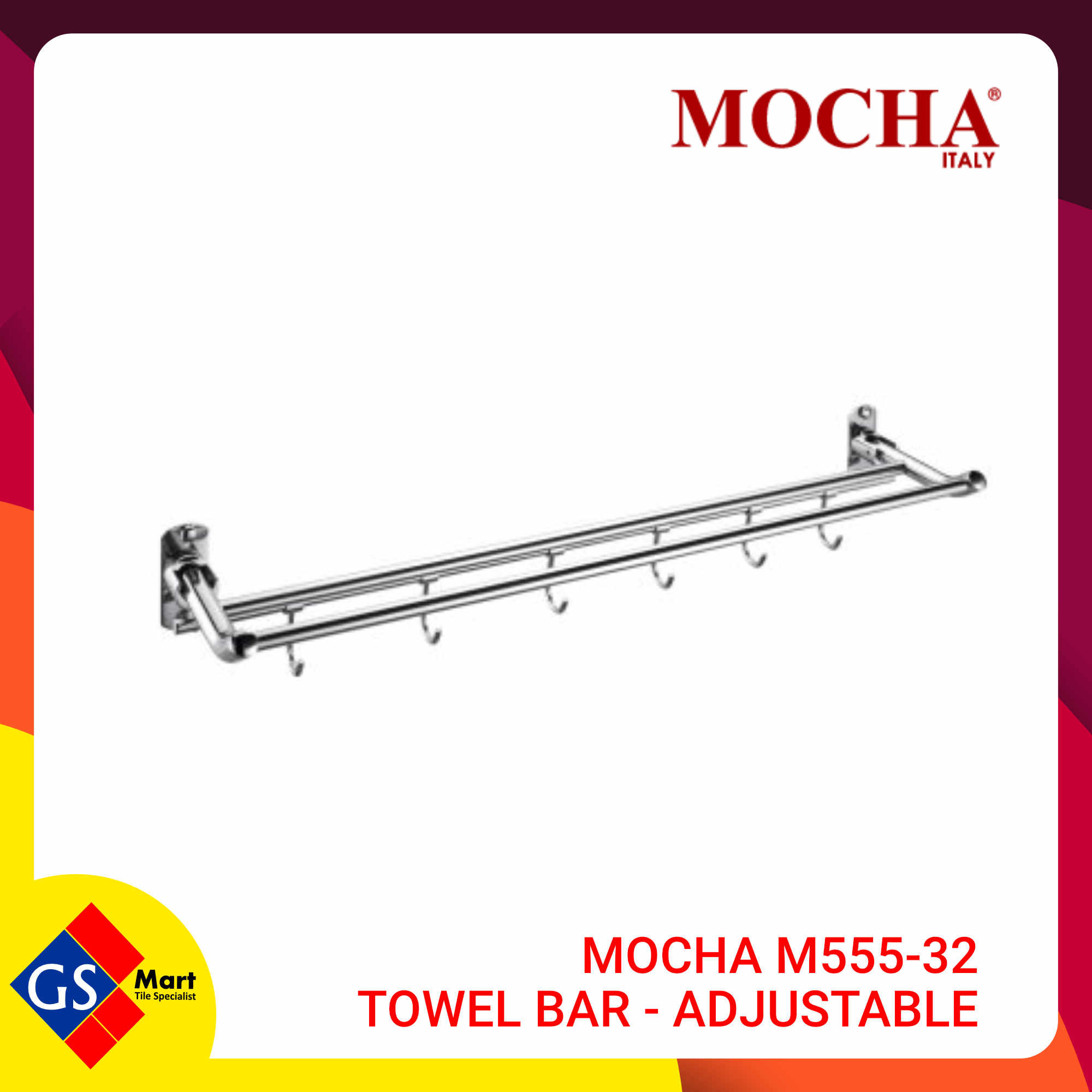 image of MOCHA M555-32 TOWEL BAR - Adjustable