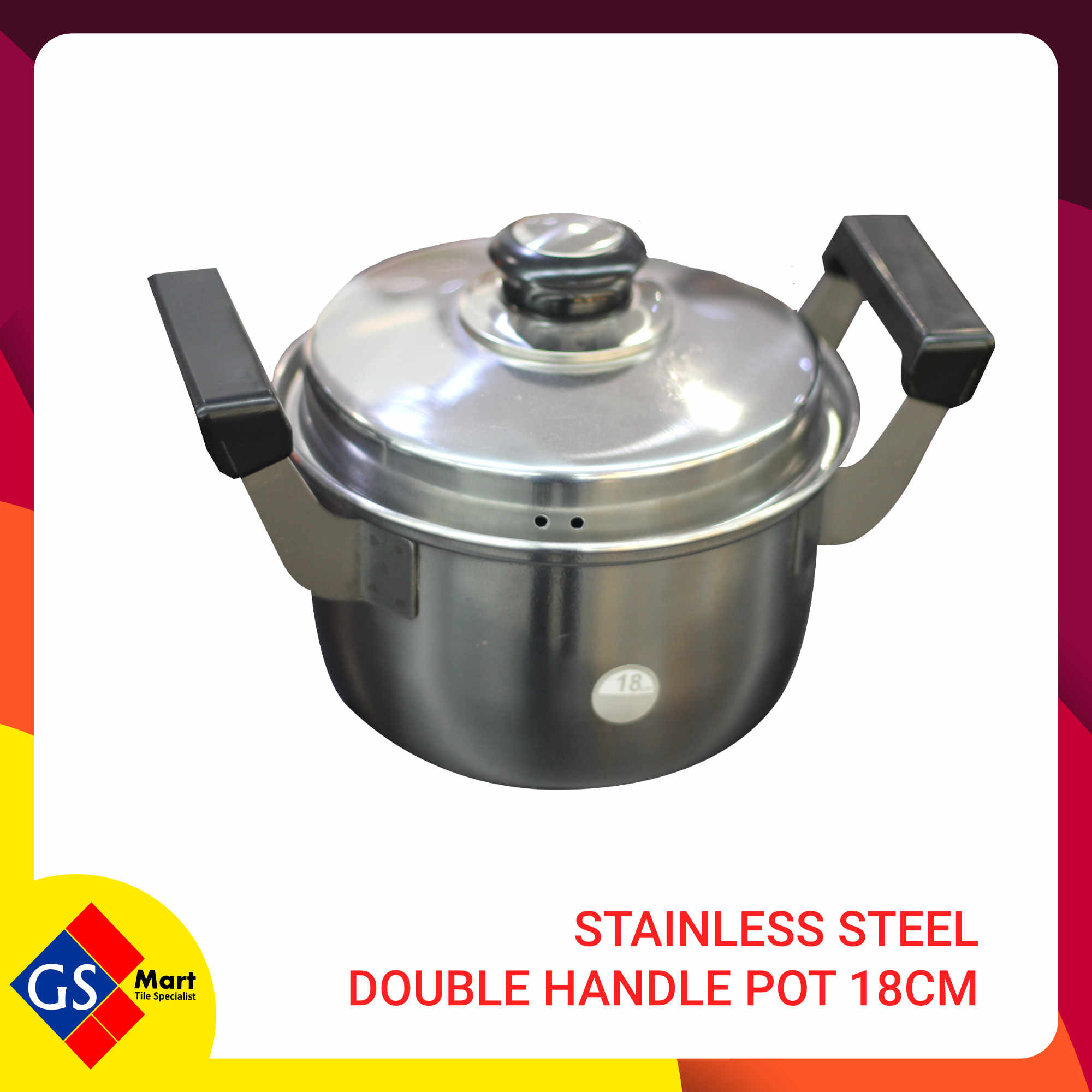 Stainless Steel Double Handle Pot