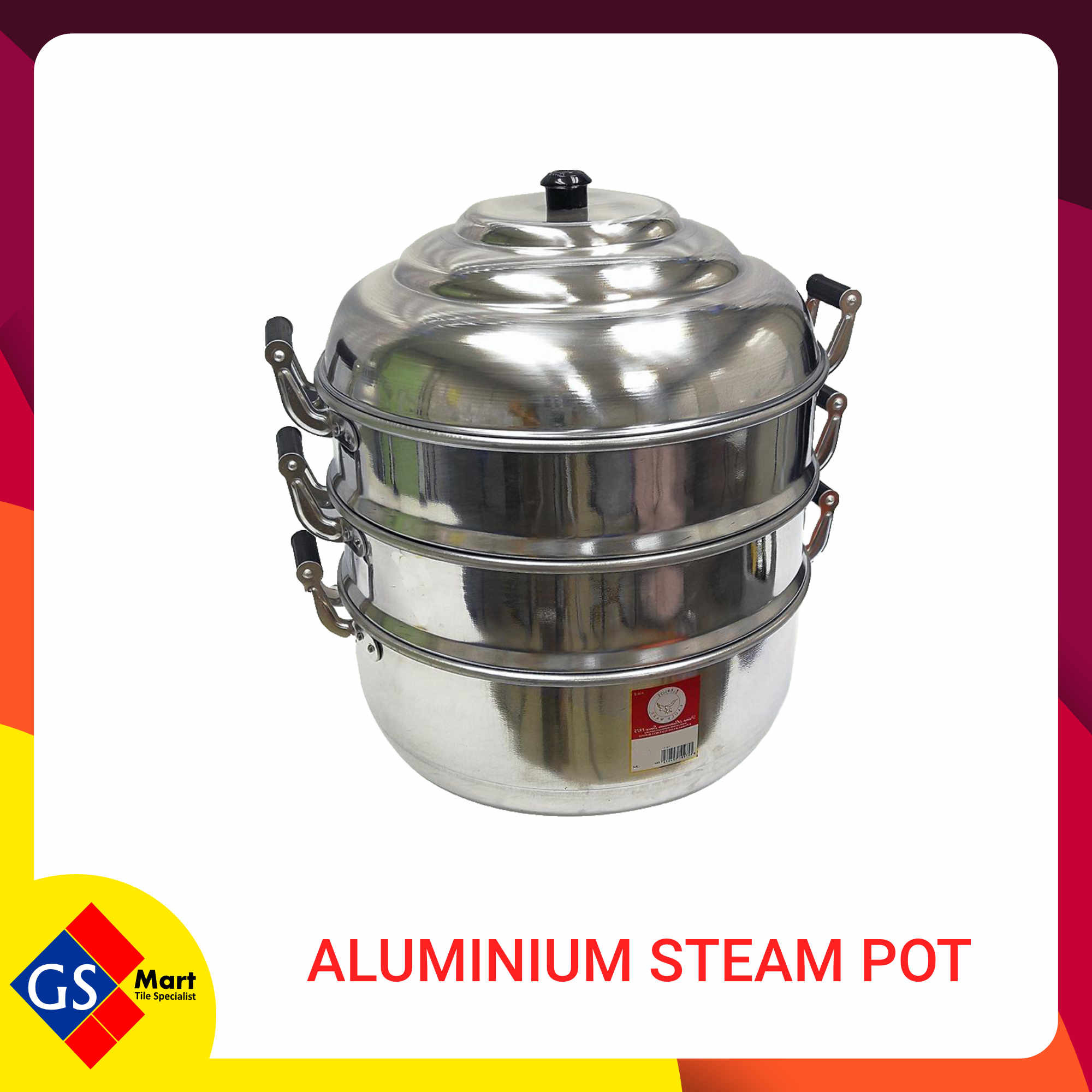 image of 52CM ALUMINIUM STEAM POT