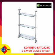image of SORENTO SRT2225C 3 LAYER GLASS SHELF