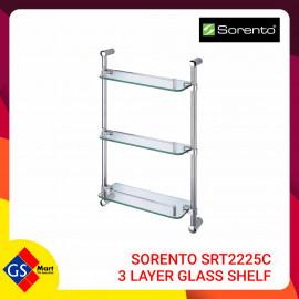 image of SORENTO SRT2225C 3 LAYER GLASS SHELF