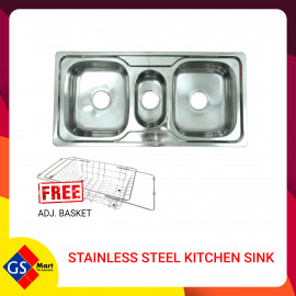 image of STAINLESS STEEL KITCHEN SINK