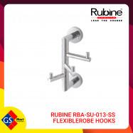 image of RUBINE RBA-SU-013-SS FLEXIBLE ROBE HOOKS