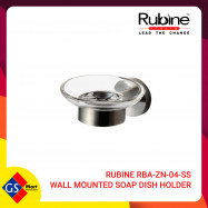 image of RUBINE RBA-ZN-04-SS WALL MOUNTED SOAP DISH HOLDER