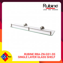 image of RUBINE RBA-ZN-GS1-SS SINGLE LAYER GLASS SHELF