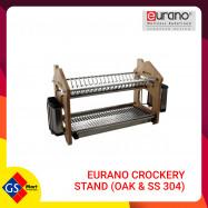 image of EURANO CROCKERY STAND (OAK & SS 304)