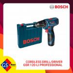 BOSCH CORDLESS DRILL/DRIVER GSR 120-LI PROFESSIONAL
