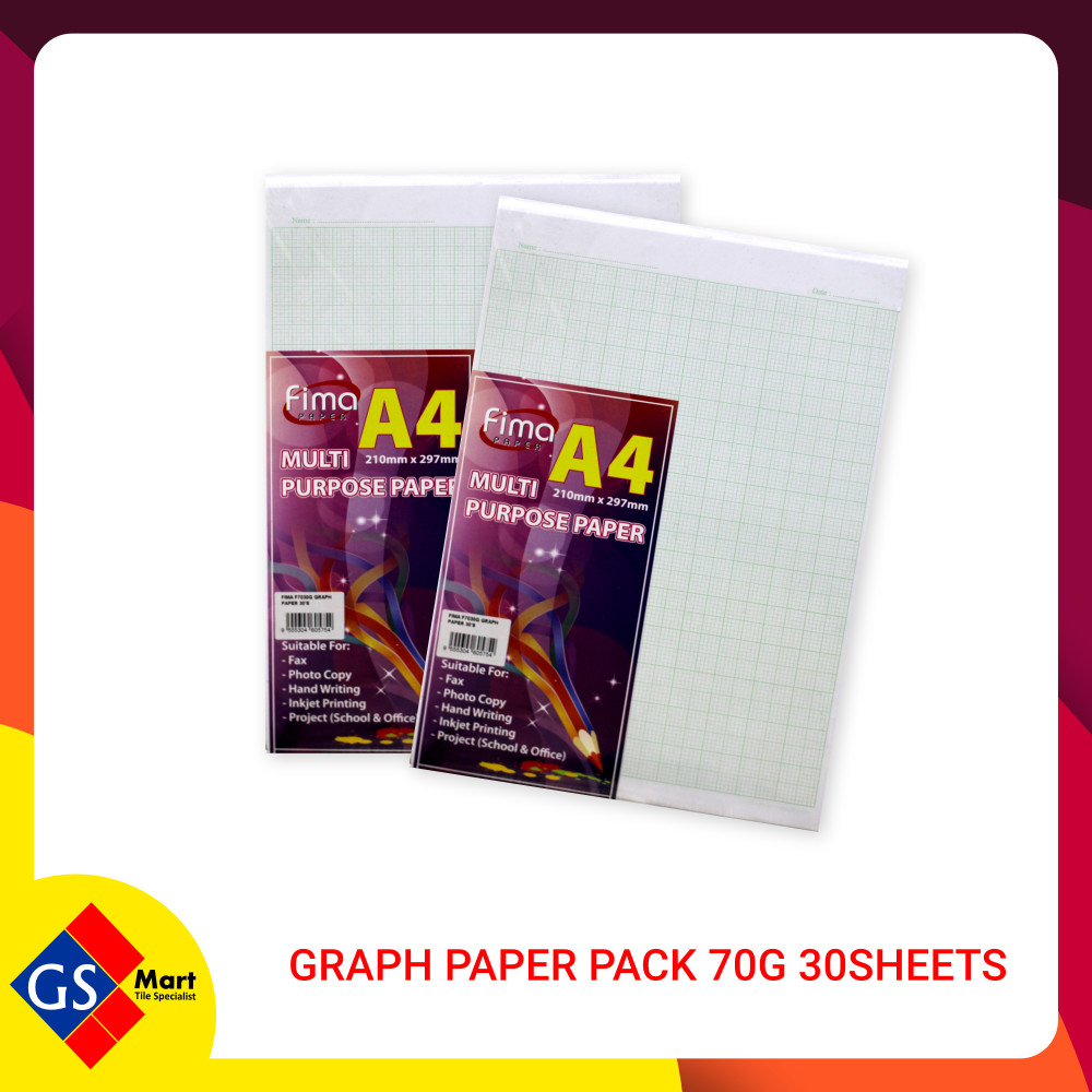 Graph Paper Pack 70g 30sheets