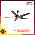 "RUBINE 56"" PICCO SERIES 4 SPEED CEILING FAN"