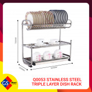 image of Q0053 STAINLESS STEEL TRIPLE LAYER DISH RACK