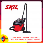 SKIL 8715 15-LITRE 1500-WATT WET AND DRY VACUUM CLEANER
