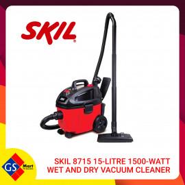 image of SKIL 8715 15-LITRE 1500-WATT WET AND DRY VACUUM CLEANER
