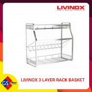 image of LIVINOX 3 LAYER RACK BASKET